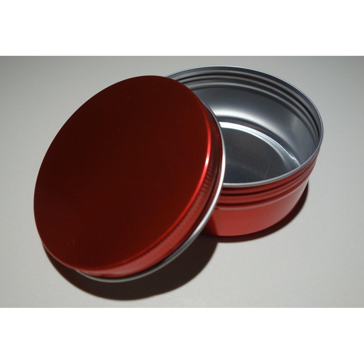 Boîte ronde en aluminium Rouge anodisé