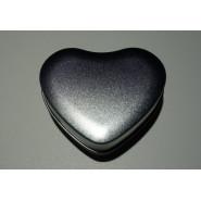 Boîte en aluminium coeur argenté