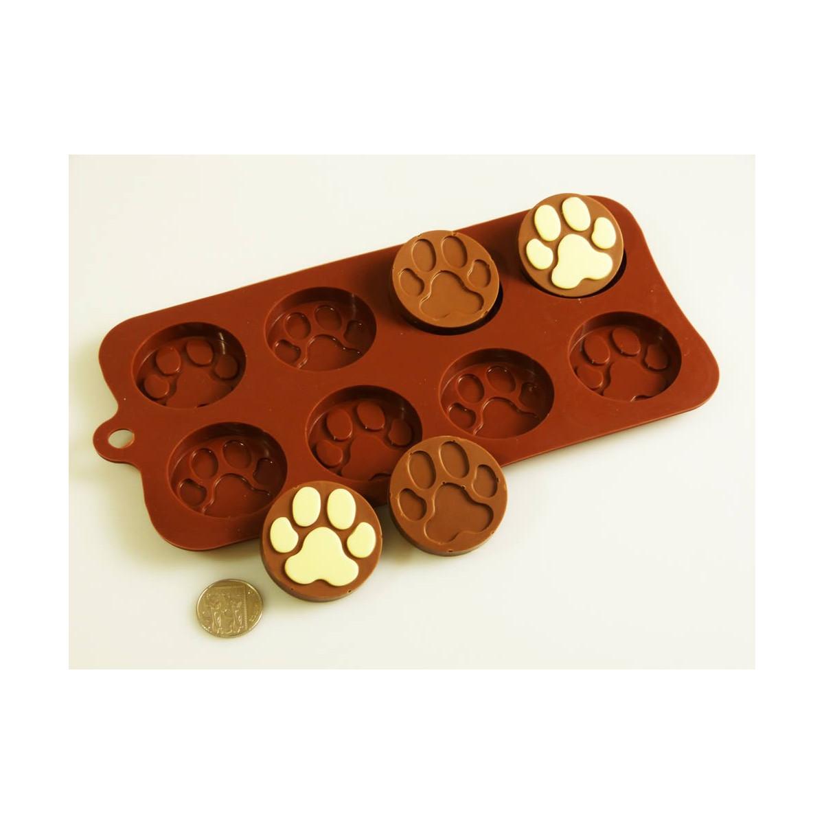 Moule en silicone Pattes de chien