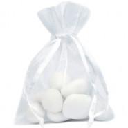 Lot de 10 sacs en organdi blanc