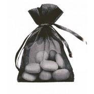 Lot de 10 sacs en organdi noir