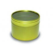Boite ronde en aluminium Or 100ml