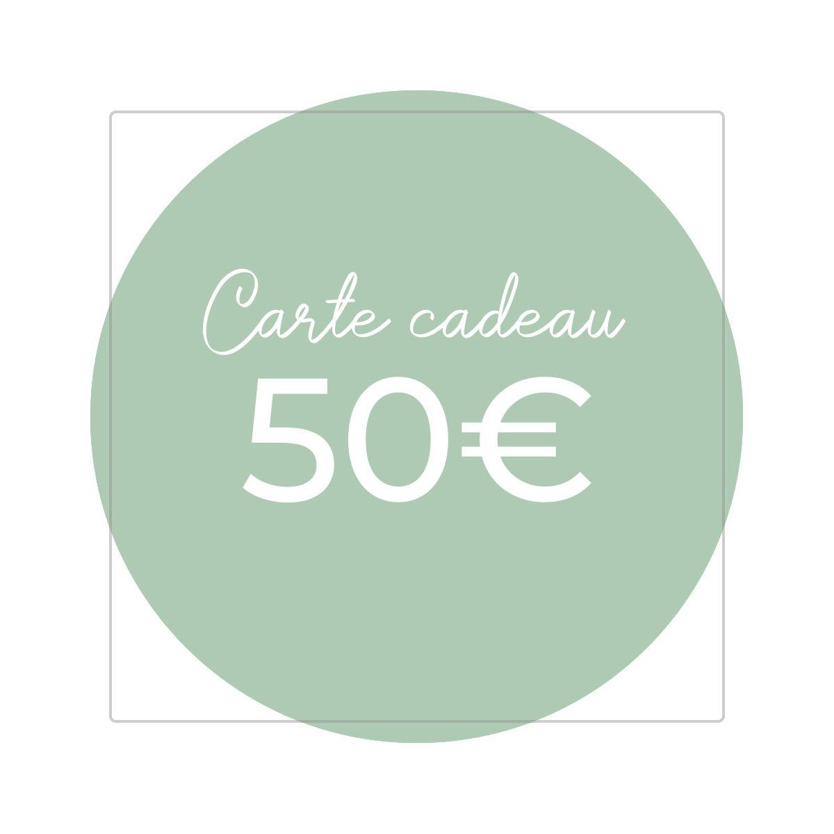 Carte cadeau 50€ - Version numérique