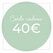 Carte cadeau 40€ - Version numérique