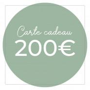 Carte cadeau 200€ - Version numérique