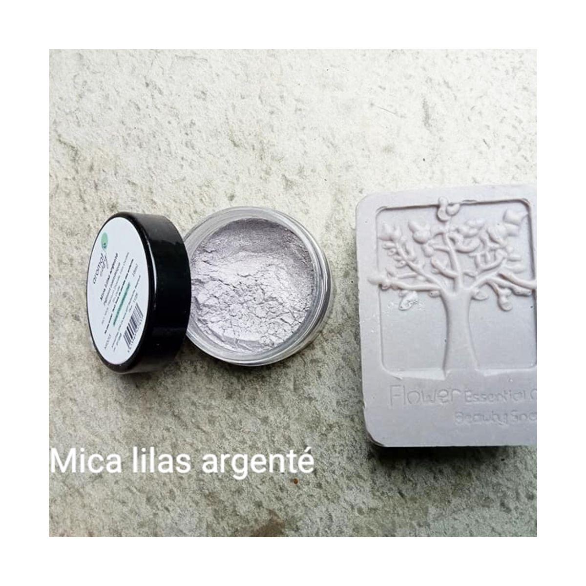 Mica Lilas argenté